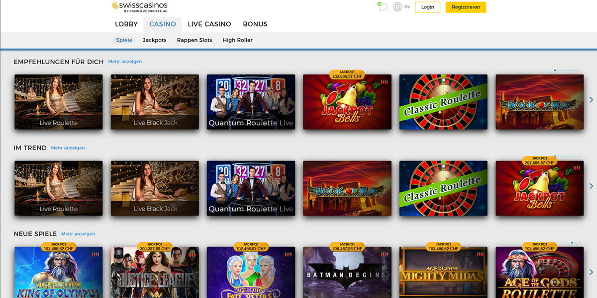 Casino Swiss Erfahrungen